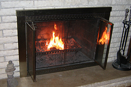 How to use fireplace doors in your wood burning fireplace.