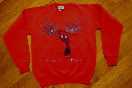 Hand Print Craft Christmas Reindeer Shirt Christmas